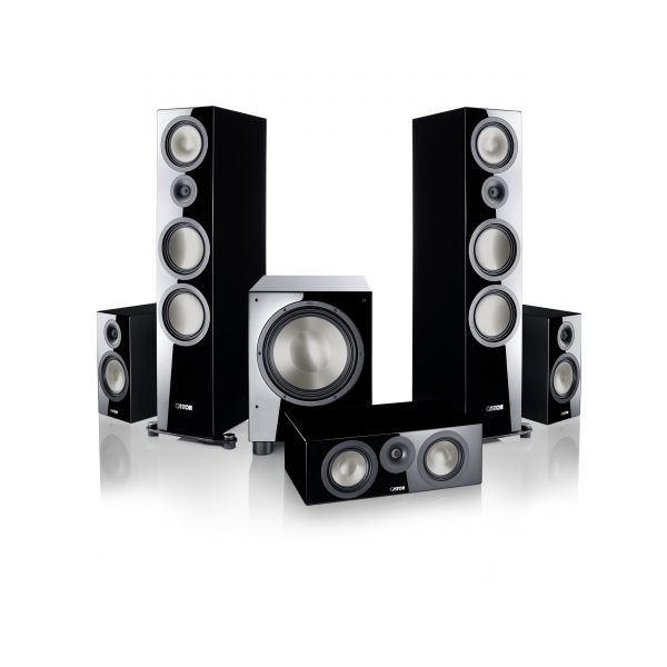 B 100 Heimkino Set - 5.1 schwarz High Gloss
